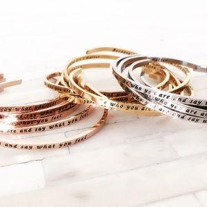Jewelry - Inspirational cuff bracelet rosegold, gold, silver